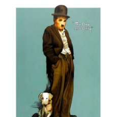 Cine: LÁMINA POSTER DE CHARLIE CHAPLIN, A DOG'S LIFE. CARTEL DE CINE. 45 X 32 CMS.. Lote 53884103