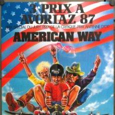 Cine: WE26 THE AMERICAN WAY DENNIS HOPPER MICHAEL J. POLLARD POSTER ORIGINAL 60X80 FRANCES. Lote 50323101