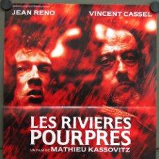 Cine: WE24 LOS RIOS DE COLOR PURPURA JEAN RENO VINCENT CASSEL POSTER ORIGINAL 40X54 FRANCES. Lote 50323859