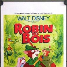 Cine: WE22 ROBIN HOOD WALT DISNEY POSTER ORIGINAL 40X60 FRANCES. Lote 50324111