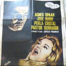 Cine: CARTEL DE CINE- MOVIE POSTER. EL SECRETO DEL DOCTOR ORLOFF. 100X70 CM. . Lote 50352920