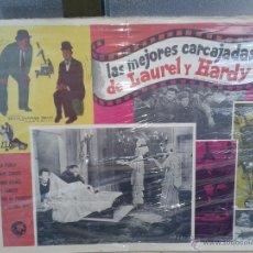 Cine: ANTIGUO CARTEL DE CINE LAUREL Y HARDY EL GORDO Y EL FLACO ORIGINAL. Lote 50397293