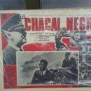 Cine: ANTIGUO CARTEL DE CINE EL CHACAL NEGRO THE BLACK FOX ORIGINAL. Lote 50397427