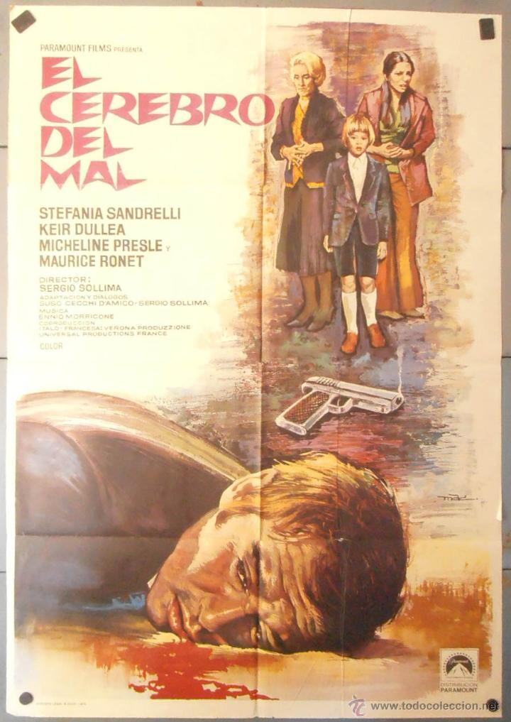 (13893) EL CEREBRO DEL MAL,STEFANIA SANDRELLI,KEIR DULLEA,MAC,CARTEL DE CINE ORIGINAL 70X100 APROX,C (Cine - Posters y Carteles - Terror)