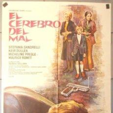 Cine: (13893) EL CEREBRO DEL MAL,STEFANIA SANDRELLI,KEIR DULLEA,MAC,CARTEL DE CINE ORIGINAL 70X100 APROX,C. Lote 50421317