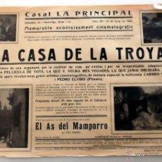 Cine: LA CASA DE LA TROYA 1925 CINE MUDO VILAFRANCA EN CATALÁN. Lote 50424134