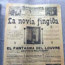 Cine: LA NOVIA FINGIDA 1925 ... BELPHÉGOR .. PROGRAMA CARTEL PASQUIN DOBLE CINE MUDO ORIGINAL. Lote 50463303