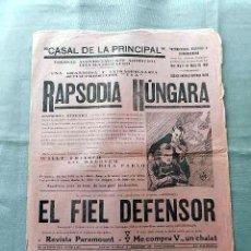 Cine: RAPSODIA HUNGARA 1928 DITA PARLO LIL DAGOVER PROGRAMA CARTEL DOBLE LOCAL SONORO ORIGINAL . Lote 50463577