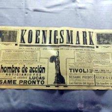 Cine: KOENIGSMARK 1923 REP.1925 HUGUETTE DUFLOS JAQUE CATELAIN PROGRAMA CARTEL CINE MUDO LOCAL ORIGINAL. Lote 50464292