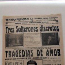 Cine: LA CAZA DEL ZORRO 1921 HAROLD LLOYD ... PROGRAMA DE 1924 CARTEL CINE MUDO ORIGINAL LOCAL. Lote 50464843