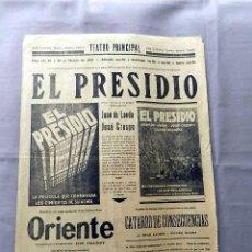 Cine: EL PRESIDIO 1930 JOSÉ CRESPO, JUAN DE LANDA, LUANA ALCAÑIZ CARTEL ORIGINAL LOCAL . Lote 50465707