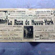 Cine: LA ROSA DE NUEVA YORK 1922 MAE MURRAY, MONTE BLUE CARTEL ORIGINAL CINE MUDO LOCAL 1924. Lote 50465810