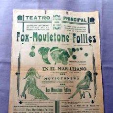 Cine: FOX MOVIETONE FOLLIES 1929 PROGRAMA CARTEL CINE SONORO ORIGINAL LOCAL VILAFRANCA PENEDES. Lote 50470123
