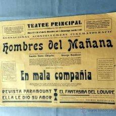 Cine: HOMBRES DEL MAÑANA .- EN MALA COMPAÑÍA - PROGRAMA DOBLE CINE MUDO GRANDE ORIGINAL LOCAL . Lote 50470551