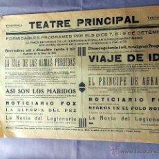 Cine: VIAJE DE IDA .- LA ISLA DE LAS ALMAS PERDIDAS AÑOS 30 PROGRAMA CARTEL CINE MUDO LOCAL EN CATALÁN. Lote 50470619