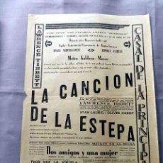 Cine: LA CANCION DE LA ESTEPA 1930 THE ROGUE SONG PROGRAMA CINE CARTEL LOCAL VILAFRANCA PENEDES. Lote 50471375