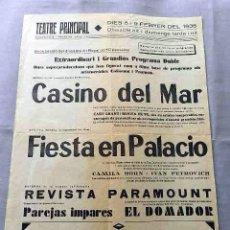 Cine: CASINO DEL MAR .- FIESTA EN PALACIO 1935 PROGRAMA CARTEL CINE SONORO LOCAL EN CATALÁN.. Lote 50481529