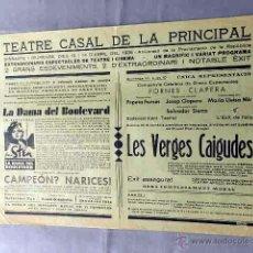 Cine: LES VERGES CAIGUDES 1935 PROGRAMA CARTEL CINE LOCAL EN CATALÁN ANIVERSARIO REPUBLICA. Lote 50481659
