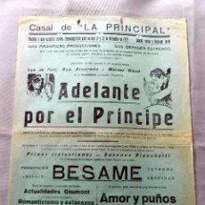 Cine: ADELANTE POR EL PRINCIPE 1926 PROGRAMA CINE MUDO CARTEL CINE LOCAL . Lote 50481967