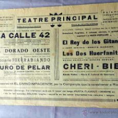 Cine: CALLE 42 CHERI BIBI 1934 PROGRAMA CINE MUDO DOBLE PASQUIN CARTEL LOCAL EN CATALÁN . Lote 50482923
