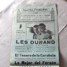 Cine: LA MUJER DEL FARAON PROGRAMA CINE MUDO DOBLE PASQUIN CARTEL LOCAL ORIGINAL VILAFRANCA PENEDES. Lote 50483208