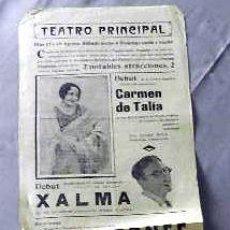 Cine: XALMA EL BOTONES ....- PROGRAMA CINE MUDO DOBLE PASQUIN CARTEL LOCAL ORIGINAL VILAFRANCA PENEDES. Lote 50483259
