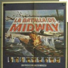 Cine: WE70 LA BATALLA DE MIDWAY CHARLTON HESTON HENRY FONDA GLENN FORD POSTER ORIGINAL 70X100 DEL ESTRENO. Lote 50531164