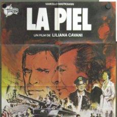 Cine: WF13 LA PIEL LILIANA CAVANI MASTROIANNI BURT LANCASTER CARDINALE POSTER ORIGINAL 70X100 ESTRENO. Lote 50531613