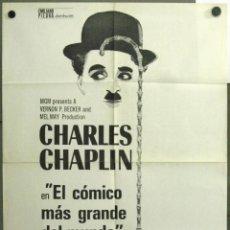 Cine: WF03 CHARLES CHAPLIN EL COMICO MAS GRANDE DEL MUNDO FESTIVAL POSTER ORIGINAL 70X100 ESTRENO 1977. Lote 50532991