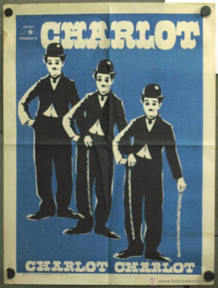 WE91 CHARLOT CHARLES CHAPLIN FESTIVAL POSTER ORIGINAL 50X70 ESTRENO 1975 (Cine - Posters y Carteles - Comedia)