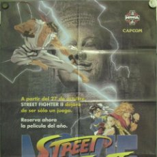 Cine: WE62 STREET FIGHTER 2 THE MOVIE MANGA ANIME POSTER ORIGINAL 70X100 VIDEO. Lote 50548473