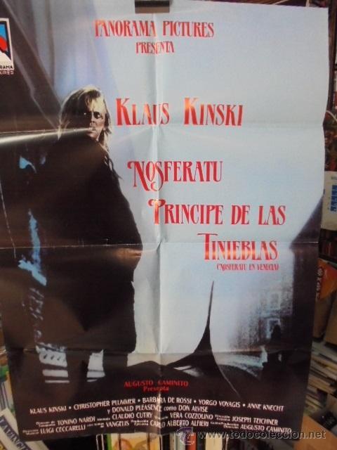 POSTER GIGANTE DE CINE KLAUS KINSKI - NOSFERATU PRINCIPE DE LAS TINIEBLAS - VENECIA (Cine - Posters y Carteles - Terror)