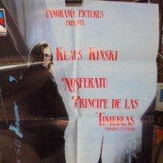 Cine: POSTER GIGANTE DE CINE KLAUS KINSKI - NOSFERATU PRINCIPE DE LAS TINIEBLAS - VENECIA. Lote 50549816
