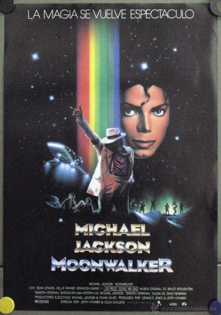 WE59D MOONWALKER MICHAEL JACKSON POSTER ORIGINAL 30X43 ESTRENO (Cine - Posters y Carteles - Musicales)