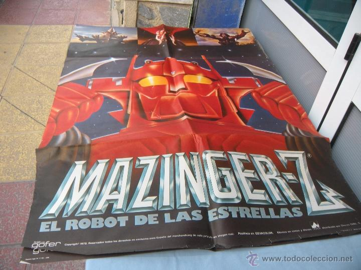 CARTEL MAZINGER Z 100 X 70 CM. AÑO 1978 (Cine - Posters y Carteles - Infantil)