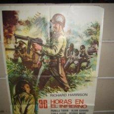 Cine: 36 HORAS EN EL INFIERNO POSTER ORIGINAL 70X100 YY (1125). Lote 50710776