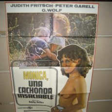 Cine: MONICA UNA CACHONDA INSACIABLE POSTER ORIGINAL 70X100 YY (1150). Lote 50722538