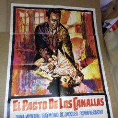 Cine: ANTIGUO CARTEL ORIGINAL, CINE, EL PACTO DE LOS CANALLAS, 100 X 70 CM. Lote 50800896