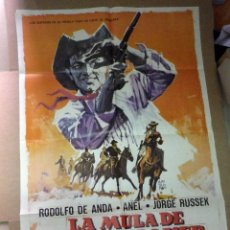 Cine: ANTIGUO CARTEL ORIGINAL, CINE, LA MULA DE CULLEN BAKER, 100 X 70 CM. Lote 50800918