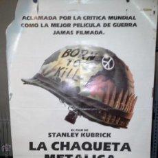 Cine: CARTEL DE CINE LA CHAQUETA METALICA. Lote 50804540