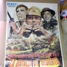 Cine: ANTIGUO CARTEL ORIGINAL, CINE, LA BATALLA DE DESIERTO, 100 X 70 CM. Lote 50804840