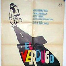 EL VERDUGO LUIS GARCIA BERLANGA ORIGINAL ESTRENO 1963 70 X 100 CMS CARTEL DE MACARIO GOMEZ MAC