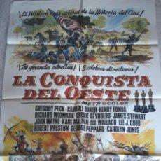 Cine: LA CONQUISTA DEL OESTE. POSTER CARTEL ORIGINAL DE ESTA PELÍCULA. 70 X 100. Lote 134181177