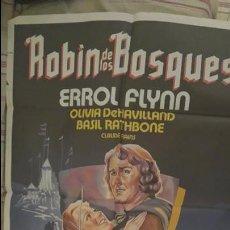 Cine: ROBIN DE LOS BOSQUES. ERROL FLYNN. CARTEL. POSTER. ORIGINAL. 70 X 100. Lote 51018344