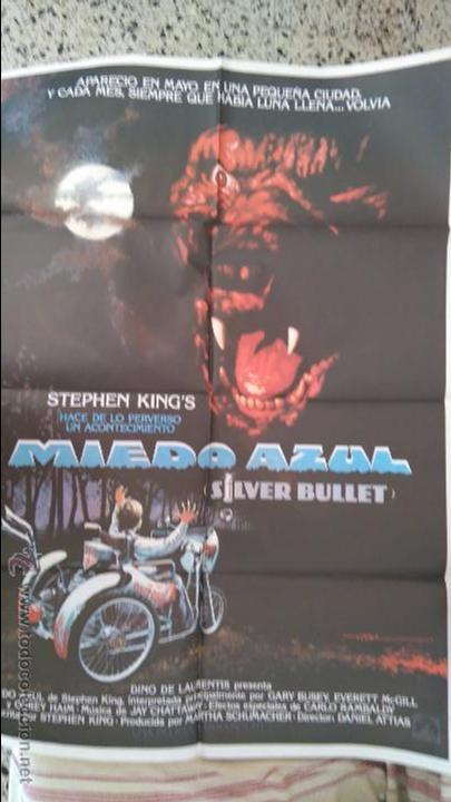 MIEDO AZUL. ORIGINAL. POSTER. CARTEL. 70 X 100. ORIGINAL. ESTRENO. STEPHEN KING (Cine - Posters y Carteles - Terror)