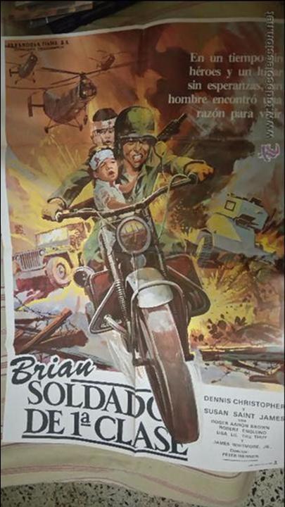 BRIAN SOLDADO DE 1ª CLASE. CARTEL. POSTER. ORIGINAL. 70X100 (Cine - Posters y Carteles - Bélicas)