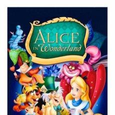 Cine: ALICE IN WONDERLAND WALT DISNEY. ALICIA EN EL PAIS DE LAS MARAVILLAS. CARTEL DE 45 X 32 CMS.. Lote 51108627