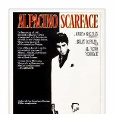 Cine: SCARFACE. AL PACINO. LÁMINA CARTEL DE 45 X 32 CMS.. Lote 115097680