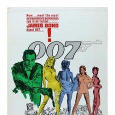 Cine: 007 CONTRA EL DR. NO. LÁMINA CARTEL DE 45 X 32 CMS.. Lote 51110783