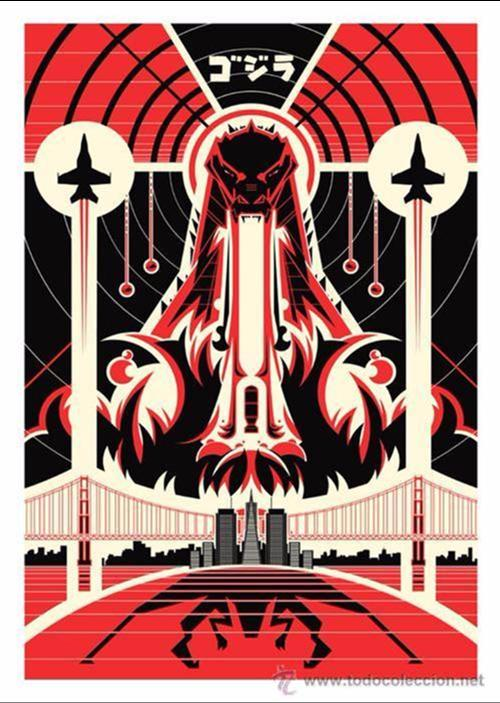 GODZILLA 2014. LÁMINA CARTEL DE 45 X 32 CMS. (Cine - Posters y Carteles - Ciencia Ficción)